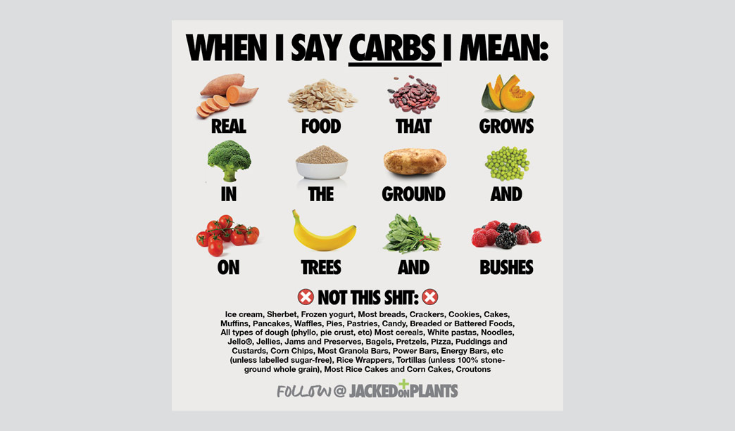 Plant based carbs are health carbs