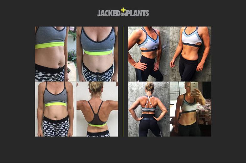 Jacked on plants women